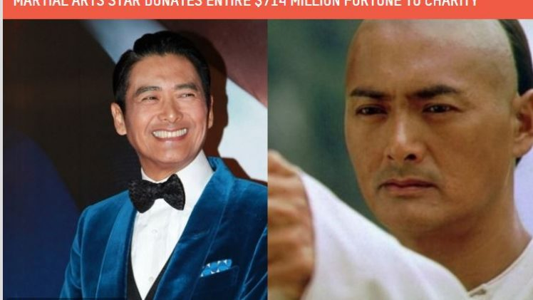 MARTIAL ARTS STAR DONATES ENTIRE $714 MILLION FORTUNE TO CHARITY – Crouching Tiger, Hidden Dragon